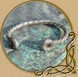 Celtic warrior's silver bracelet